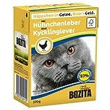 16 x Bozita Cat Tetra Recard Häppchen in Gelee Hühnchenleber 370g, Nassfutter, Katzenfutter