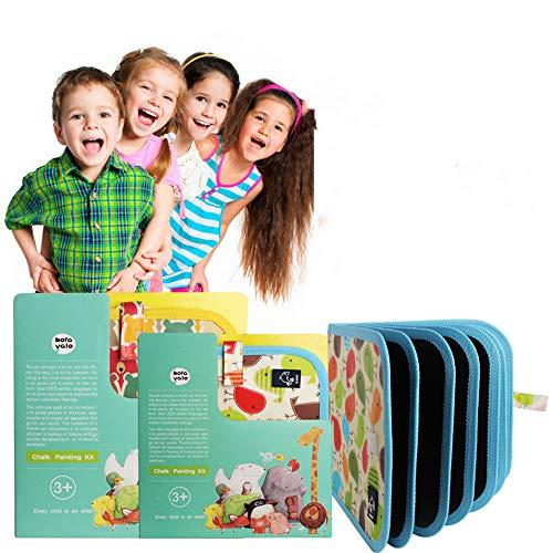 Nuoyi Tragbare Zeichenbrett Kinder Doodle Zeichnung Spielzeug Pädagogisches Spielzeug 3 Farbe Kreide Früherziehung Lernen Graffiti Zeichnung Mat Junge Kinder -