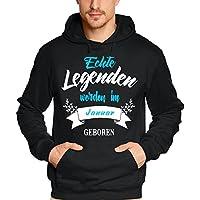Echte Legenden werden im Januar geboren ! Geburtstag Hoodie Sweatshirt mit Kapuze  Gr.S M L XL e766be5964