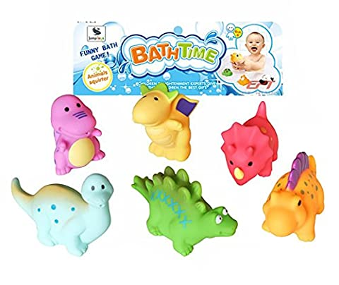 Bath Toys - Set of 6 Dinosaur Squirters by Jump