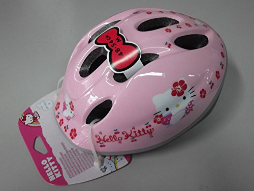 Casque Vélo Enfant Helmet Kids ironway Original Hello Kitty Pink Cubes TG.48 - 54