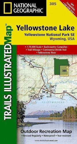 Yellowstone Se/yellowstone Lake: Trails Illustrated National Parks (National Geographic Trails Illustrated Map)