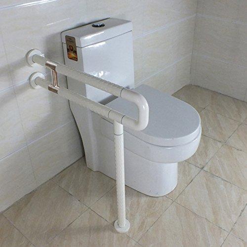 IBAMA Stützklappgriff, Toiletten WC-Aufstehhilfe Stahl-Haltegriff für Senioren, Behinderte - weiß