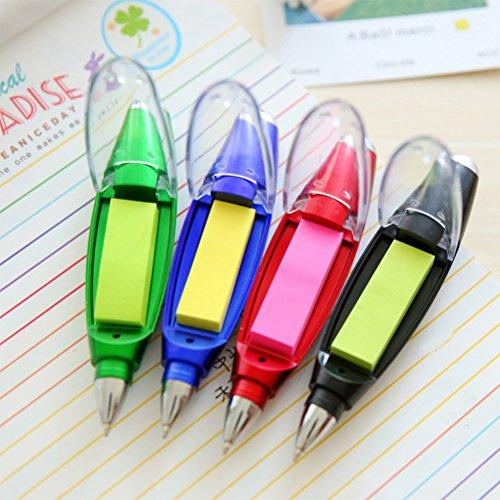 4Stück Kugelschreiber Geschenk Attraktiv Mignon mit LED Lampe Lesezeichen Geschenk Farbe
