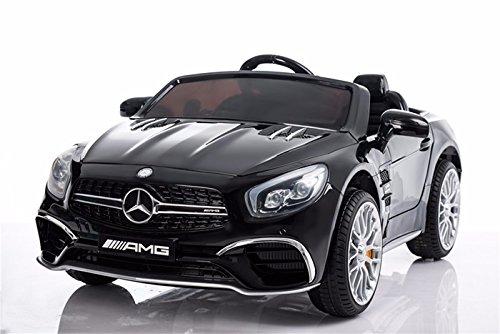 Kinderauto Mercedes-Benz SL65 AMG Coupe Elektroauto Kinderfahrzeug Ledersitz (schwarz)