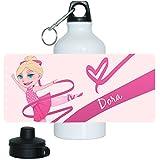 Trinkflasche mit Namen Dora und schönem Motiv mit Tänzerin für Mädchen | Motiv-Trinkflasche | Kinder-Trinkflasche