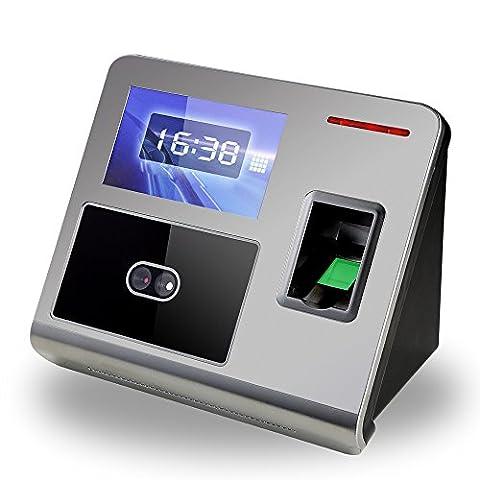 KKmoon 4.3'' DC 12V Machine du Pointage du Personnel par Visage / Code avec HVGA Ecran TCP/IP U-disque Record