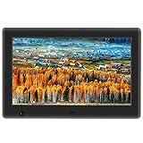Apzka 8 Zoll HD Digitaler Bilderrahmen mit Bewegungssensoren, MP3- und Video-Wiedergabe mit Autodrehung/Kalendar/Uhr Funktion mit Fernbedienung (8-Zoll Schwarz)