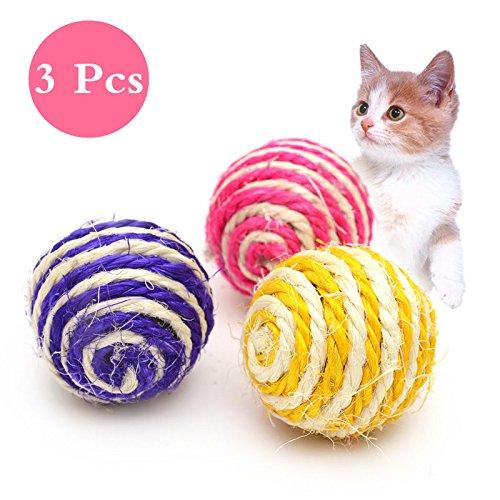 Milopon Katze Spielzeug Cat Scratch Ball Catch The Maus Katzen Kratz Spielzeug für Haustier 3pcs