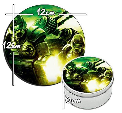 MasTazas Command & Conquer 3 Runde Metalldose aus Zinn Round Metal Tin Box