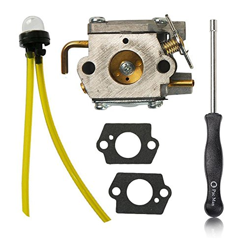 OuyFilters Carburetor with Adjustment Tool Kit Screwdriver for Walbro WT-827 WT-827-1 WT-149A WT-275 WT-340-1 WT-454 WT-539 Carb Ryan Ryobi Trimmers -