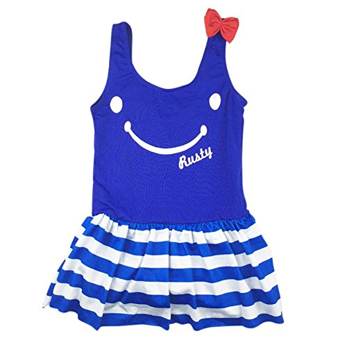 mode Schwimmen Kostüm Beachwear One Piece Bodysuit Lächeln Gesicht Cute Printed Bikini (Cute Little Girl Kostüme)