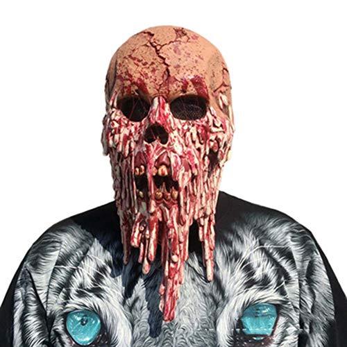 Amprines Halloween-Schädel Maske, Heimgesuchte Haus Geheimen Raum, Blutiger Bote, Horror Haube, Maske, Filmrequisiten, Horror