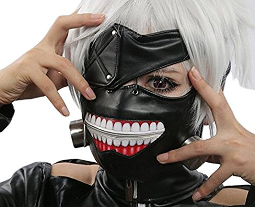 Kaneki Ken Cosplay Maske Halloween Party Cool Mask Prop Zipper ()
