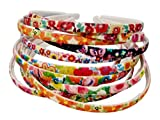 #10: Evogirl Hair Band Multicolored Garden Mixed Flower Prints Hair Band, Head Band, for Women/Girls (Pack of 12)