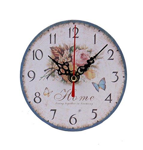 LuckES Blanco Reloj de Pared de Cuarzo 3D Reloj de Pared de Dígitos Estilo Home Decor Negro plástico Room Decoration Reloj de Pared Digital Cocina silencioso Bricolaje(Batería No Incluida) (A)