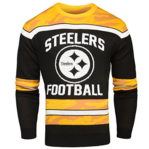 NFL Glow in the Dark Ugly im Dunklen leuchtender Pullover, unisex, Pittsburgh Steelers
