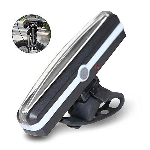 A +, USB, wiederaufladbar, Fahrrad-Licht, teepao COB LED blinkt Licht mit 6-Modi, wasserdicht, Vor/Fahrrad-Helm-Licht, einfach zu installieren für Kinder und Frauen, die sich auf Fahrrad, mit Taschenlampe weiß (Blinkende Fahrrad Lichter)