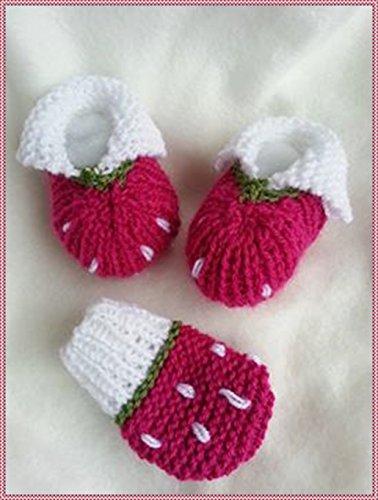 Strickanleitung Babyschuhe Und Babyhandschuhe Erdbeere Schönes Für