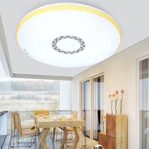 CLG-FLY Lampada LED soffitto lampada camera soggiorno,26W bianco