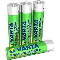 Varta  Rechargeable Accu Ready To Use vorgeladener AAA Micro NiMh Akku (4er Pack, 800 mAh, wiederaufladbar ohne Memory-Effekt - sofort einsatzbereit)