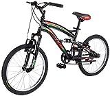 FREJUS Full Sospensione 20-Bicicletta da MTB Full Susp. per Unisex, 6velocità, Quadro Acciaio, Nero/Verde