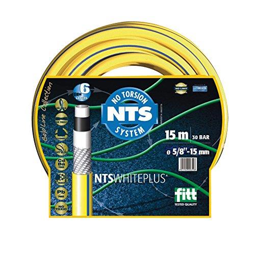 FITT 8011963747347 FWP3/450 5-lagig Profi Gartenschlauch 3/4 Zoll NTS, 50 m knickfest und verdrehungsfest, Wasserschlauch, Gelb 37x37x15 cm