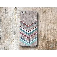 aztekisch Chevron Holz Print Hülle Handyhülle für iPhone 4 4s 5 5se se 5C 5S 6 6s 7 Plus iPhone 8 Plus iPod 5 6