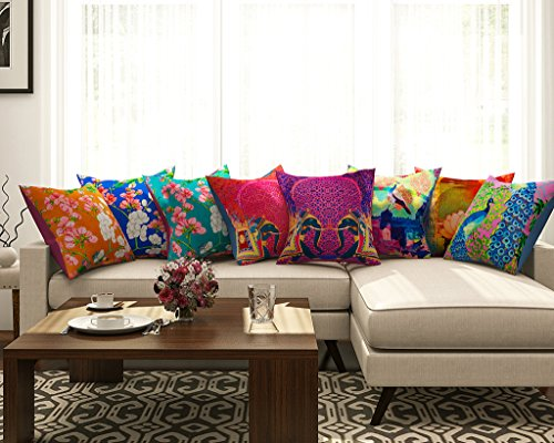 SEJ Cotton (Set of 8) HD Digital Premium Cushion Cover...
