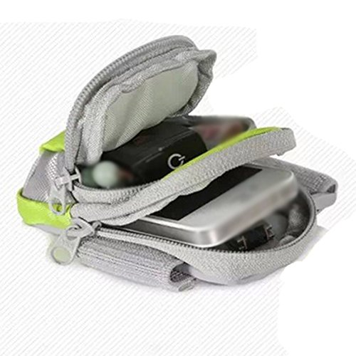 Fascia Sportiva Da Braccio Con Doppia Tasche Per iPhone 6 Plus 6s 6 Samsung Galaxy Cellulare Bel Colore Verde