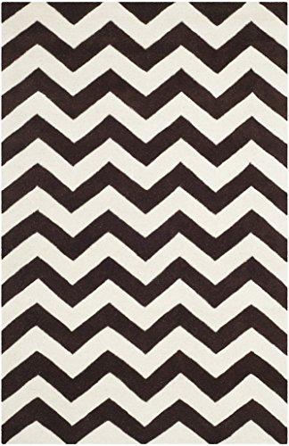 Safavieh Crosby handgetufteter Teppich, CHT715K, Braun / Elfenbein, 121 X 182  cm