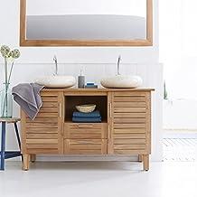 Amazonfr Meuble Teck Salle Bain - Meuble de salle de bains en teck