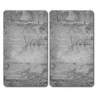 Kesper 36540 13 Multi-Glass Concrete Design Chopping Board (2 Pieces), Grey, 52 x 30 x 0.8 cm