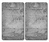 Kesper 36541-13 Multi-Glasschneideplatte Motiv: COFFEE LETTERS - Maße: 52 x 30 x 0,8 cm, Glas Grau