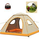 Micrael Home Zelt mit 3-4 Personen, Wasserdichtes Zelt mit Abnehmbarer Tragetasche und Regenschutz Automatische Popup-Zelte für Den Rucksackwandern Picknick Strand Angeln Reisen