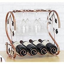 CivilWeaEU- Appeso a testa in giù vino cremagliera di legno calice di vino portabicchieri ornamenti telaio scaffale vino creativo europeo -Cremagliera del vino