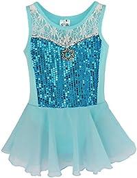 IEFIEL Justaucorps Fille Danse Paillettes Tutu T Shirt Gym Danse Classique  Robe Bébé Fille ... 489980ab758