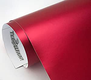 12 20 m auto folie chrom matt rot selbstklebend for Klebefolie rot
