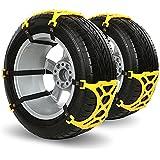 iRegro fácil de instalar neumático de nieve Cadenas Cadena antideslizante, apto para la mayoría de coches / SUV / Truck-Conjunto de 6-Hop Fly