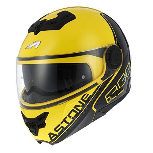 Astone Helmets rt800-line-ygxs casco Moto RT 800LINETEK, amarillo/gris, talla XS