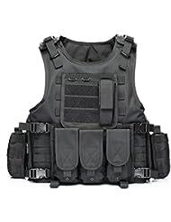 YAKEDA® Ventilateurs Ventilateurs Armée tactique Vest Cs Champ Swat Tactical Army Vest Vest extérieure Cs Jeu Vest cosplay de Counter Strike Jeu Vest-322