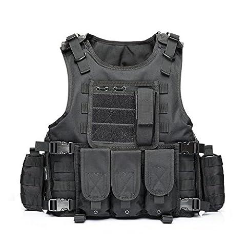 YAKEDA® Ventilateurs Ventilateurs Armée tactique Vest Cs Champ Swat Tactical