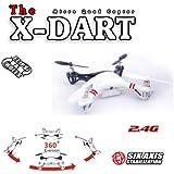 s-idee® 01170   X-DART Quadcopter 4.5 Kanal 2,4 Ghz Quadrocopter RC ferngesteuerter Hubschrauber/Helikopter/Heli mit GYROSCOPE-TECHNIK + 2,4Ghz TECHNOLOGIE!!! für INNEN und AUSSEN brandneu mit eingebautem GYRO und 2.4 GHz Steuerung! FLUGFERTIG!