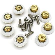 8pcs 19mm cobre ducha puerta ruedas rodillos corredores