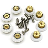 8 PCS 19mm Copper Shower Door Wheels Rollers Runners