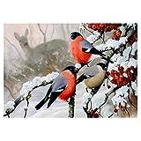 powlance Vögel Blumen 5D Diamant Gemälde Stickerei DIY Kreuzstich Home Decor Einheitsgröße Nr.4