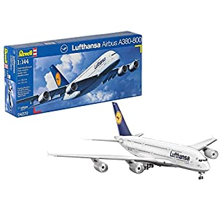 Revell 1:144 Scale Airbus A380-800 Lufthansa Plastic Kit (model)