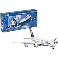 "Revell Modellbausatz Flugzeug 1:144 - Airbus A380-800 ""Lufthansa"" im Maßstab 1:144, Level 5, originalgetreue Nachbildung mit vielen Details, Zivilflugzeug, Passagierflugzeug, 04270"