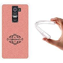 Funda LG G2, WoowCase [ LG G2 ] Funda Silicona Gel Flexible N1 Parisian Chic, Carcasa Case TPU Silicona - Transparente