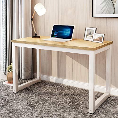 Merax Schreibtische Computertisch Bürotisch Arbeitstisch PC-Tisch Bürotisch Esstisch Arbeitstisch für Zuhause Büro Tisch Officetisch, 120 x 60 x 75cm (Eiche-Weiß)